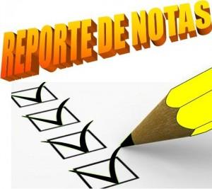 Reporte de Notas